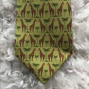 Hermès Vintage Silk Giraffe Print Tie